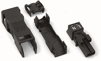 WAGO Winsta Mini Buchse 2 polig 890-102 schwarz mit Zugentlastung