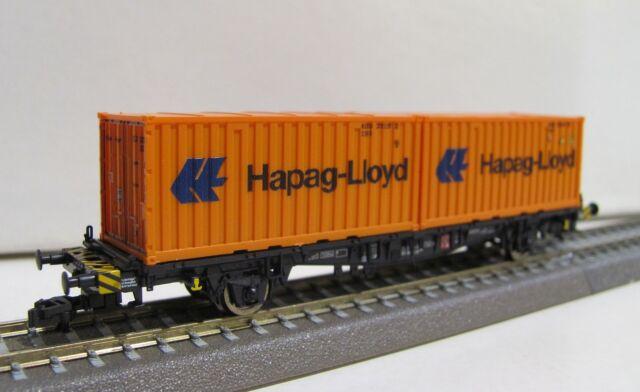 "Roco TT 37514 Containertragwagen ""Hapag-Lloyd"",DBAG, Epoche V NEUWARE mit OVP"