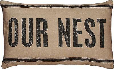 Our Nest Dark 3 Stripe Throw Pillow Primitives By Kathy Cotton 15 x 25 Farmhouse