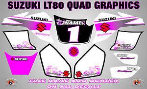suzuki lt80 quad graphics stickers decals name-number lt 80 mx