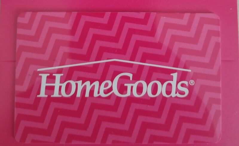 Home Goods Gift Card $25