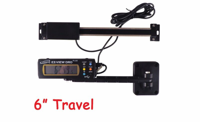 "Digital Readout DRO Igaging 6"" 150 mm AC Preset Articulating Remote Display"