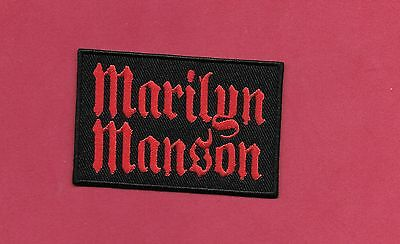 "New Marilyn Manson  3 X 2  "" Inch Iron on Patch Free Shipping"