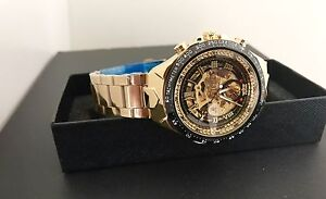 Brand new men's 44mm gold automatic watch