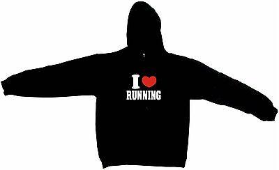I Heart Love Running Men's Hoodie Sweat Shirt Pick Size Small-5XL