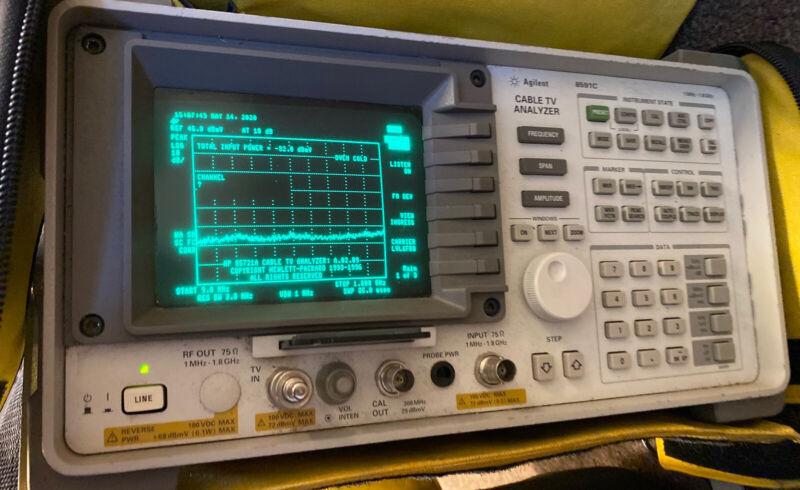 HP Hewlett Packard/Agilent 8591C 1 MHz - 1.8 GHz Cable TV Analyzer