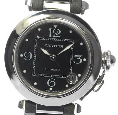Cartier Pasha C Automatic Boys SS / Leather from Japan [a1011]