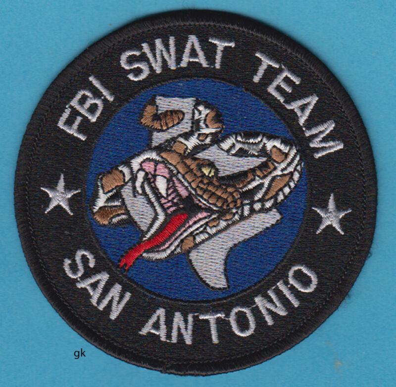 SAN ANTONIO TEXAS  FBI SWAT TEAM SHOULDER PATCH    Rattlesnake