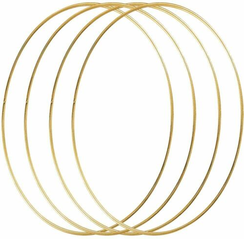 16 inch Large Metal Floral Wreath Hoops Craft Gold Ring Dream Catcher 4pcs