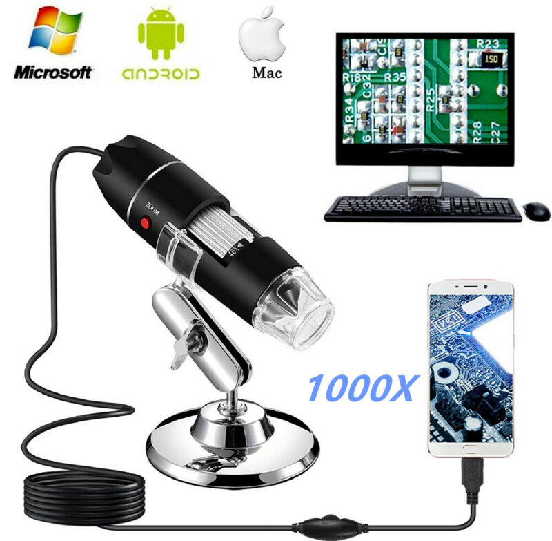 1000X Jiusion Portable Digital USB Microscope Household Endoscope Magnifier