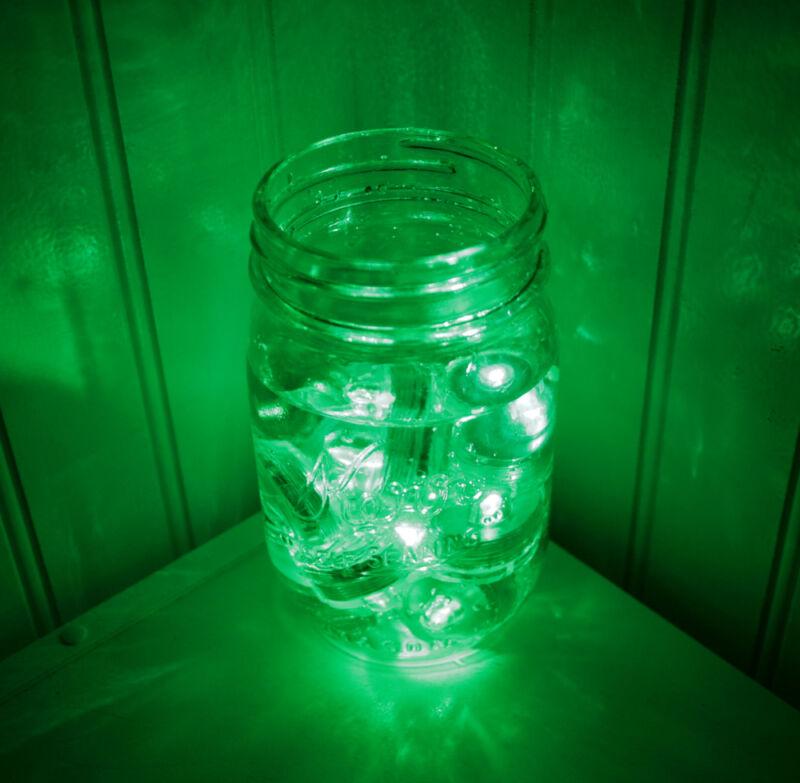 10-Pack Green Submersible Waterproof Underwater Battery LED Tea Light ~ Wedding