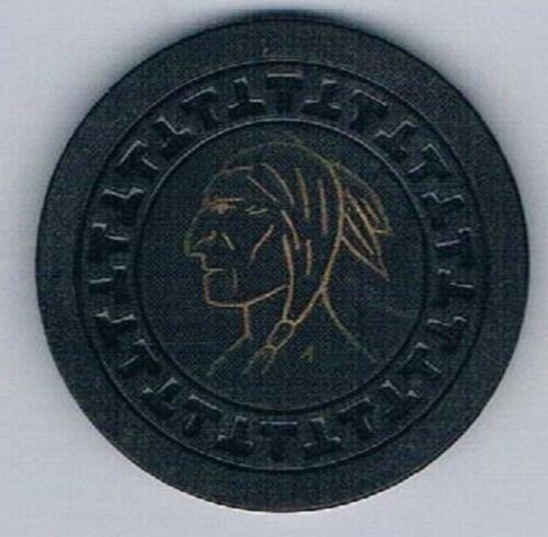 Spokane Club Indian Chief $10.00 Poker Chip T Mold Spokane Washington