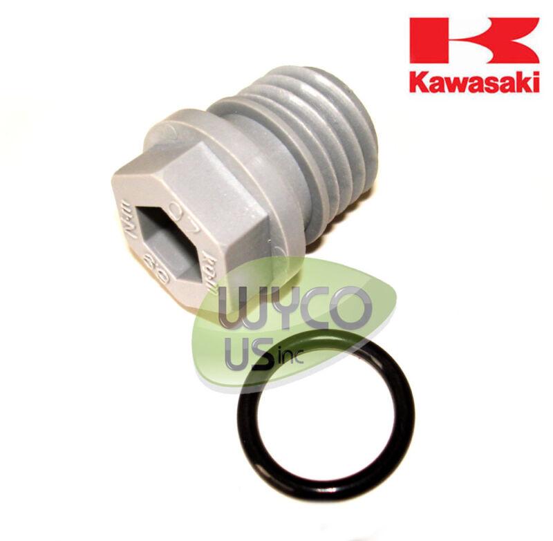 OEM OIL DRAIN PLUG w/ GASKET, 92066-0774, KAWASAKI FH381V-FH721V ENGINES, 12D5