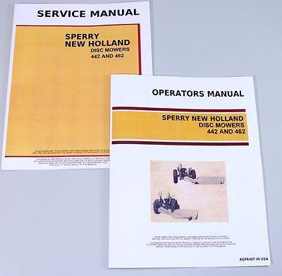Set New Holland 442 462 Disc Mowers Service Operators Owners Repair Shop Manual