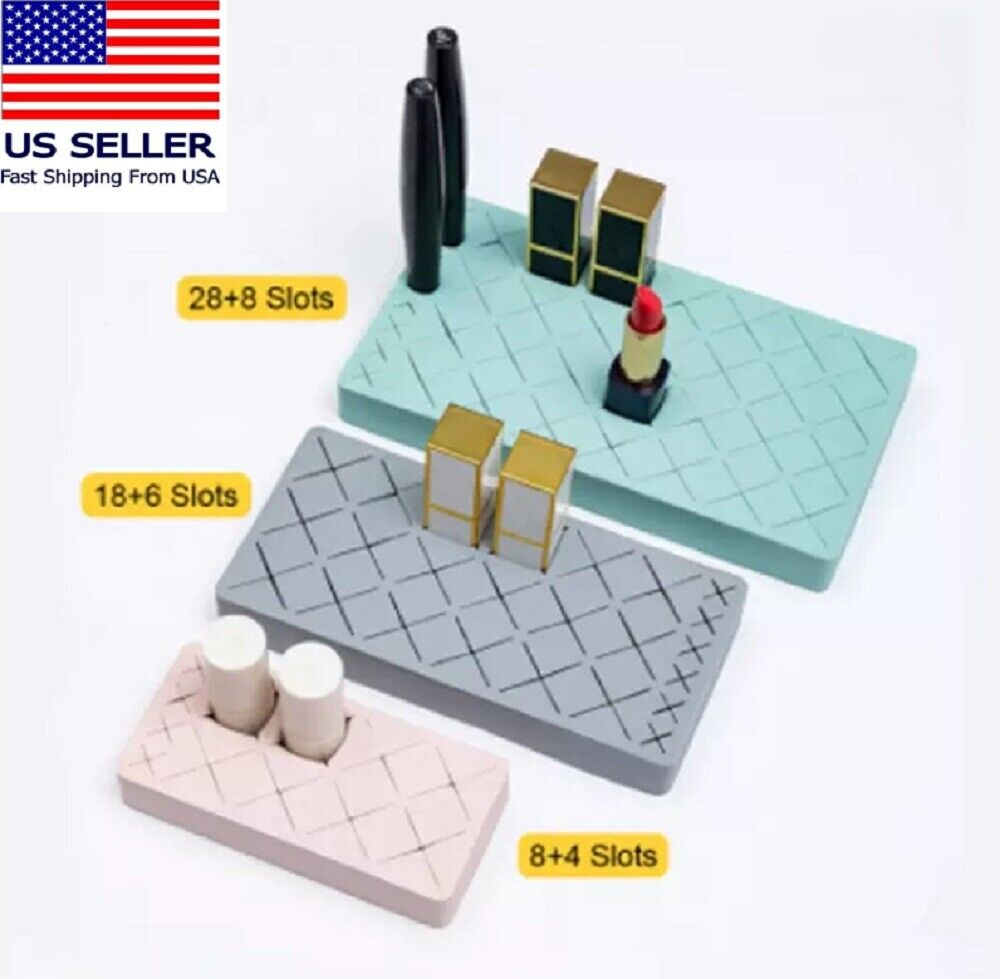 Lipstick Holder Display Stand Cosmetic Organizer Makeup Silicone Lipgloss Holder Health & Beauty