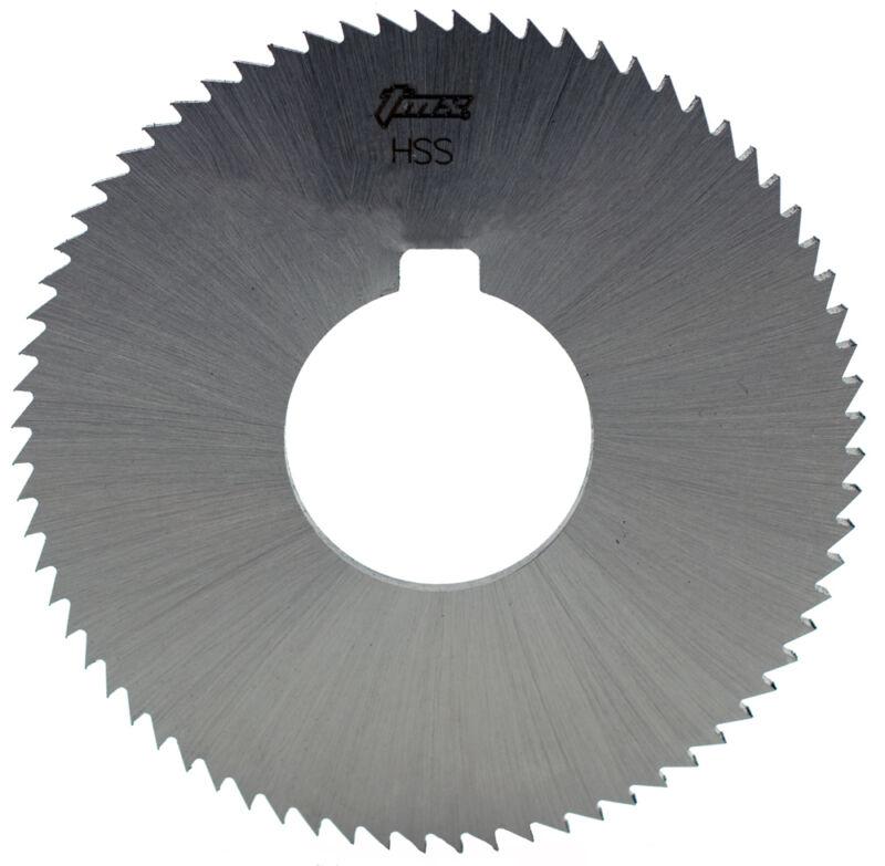 ".020"" Thick x 2-3/4"" Diameter x 1"" Arbor Hole 72 Teeth HSS Screw Slotting Saw"