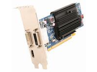 AMD Sapphire HD 6450 1GB DDR3 x2 DVI & x1 HDMI GPU (silent, fanless)