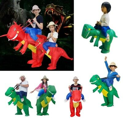 Boys Dinosaur Costume (Inflatable Dinosaur Costume Fancy Dress Cosplay Piggyback Cloth Ride On)