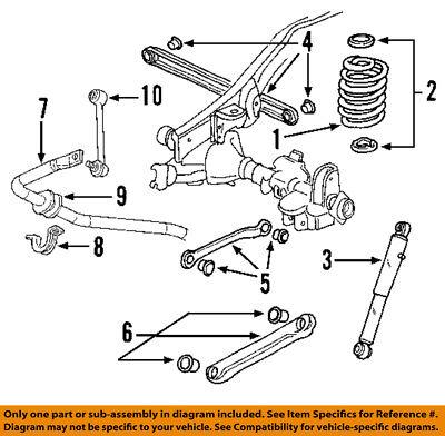 GM OEM Rear Suspension-Track Bar 22863710