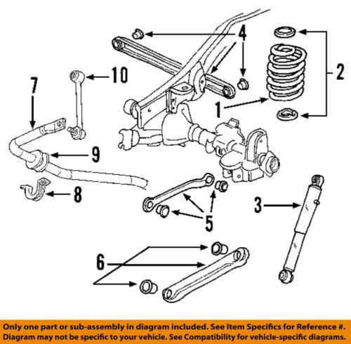 GM OEM Stabilizer Bar-Rear-Bushing 14071381