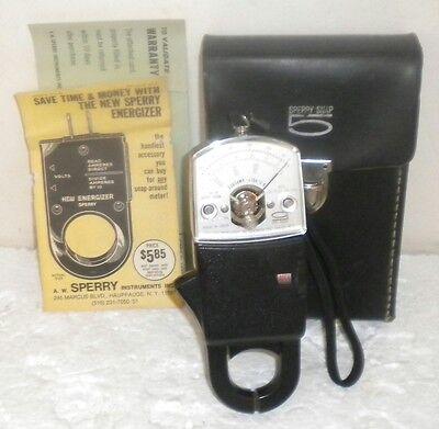 A.w. Sperry Ar300 Snap 5 Volt Amperes Line Clamp Tester Meter Case Vintage
