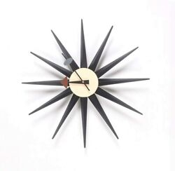 George Nelson sunburst clock Ripurodakuto designer furniture Black