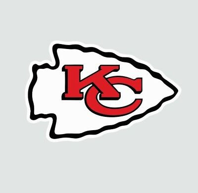 Kansas City KC Chiefs NFL Football Color Logo Sports Decal Sticker-Free Shipping ()