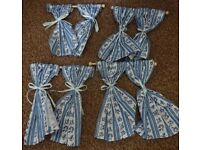 Set of 4 Dolls House Emporium Miniature Curtains with poles only £5