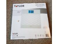 100% Genuine Taylor Digital Glass Scale High Capacity 3D Patterned Platform