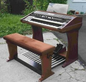 WERSI SPECTRA ORGAN WITH FULL PEDALBOARD AND ADJUSTABLE BENCH
