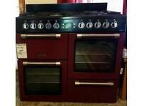 Range cooker Burgundy