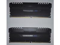 Corsair VENGEANCE LED 32GB (2 x 16GB) DDR4 3200MHz C16 Memory Kit - Blue LED (CMU32GX4M2C3200C16B)