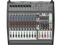 Behringer PMP4000 Europower, powered mixer with Gator bag
