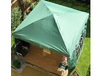 POP UP GAZEBO 3m x 3m. Used once in Green. All sides included with windows. Fantastic condition.