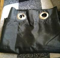 2 new black shear panel curtains with metal grommits