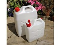 5 Gallon & 2 Gallon High Quality Plastic Water Containers / Cans for Camping *Excellent Condition*