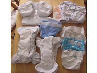 Bundle of reuseable nappies, Totsbots, Bambino Mio, Bumgenius, Mothercare Smartnappy