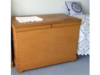 Traditional Victorian pine storage/blanket chest