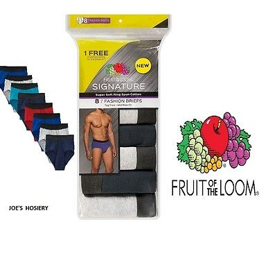 """Buy and sell FRUIT OF THE LOOM MEN 8 PACK FASHION COLOR BRIEF """"SIGNATURE"""" products"""
