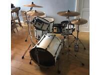 Drum Kit - 6 piece Tama Superstar Hyperdrive, Zildjian ZBT cymbals, Stagg cases.
