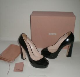 MIU MIU shoes with original box, certificate and dust bag, size 40, RRP £420, -