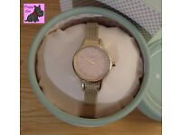 Radley RY4246 Ladies 'Millbank' Gold Plated Fine Mesh Strap Watch. NEW RRP: £115
