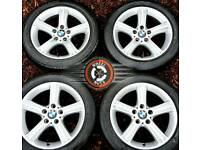 "17"" Genuine BMW Sport 3 series alloys Trafic Vivaro excel cond excel premium tyres."