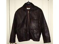 *** Genuine Dark Brown Male Leather Jacket ***