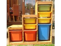 IKEA storage unit with multicoloured storage trays and lids - 2 Available
