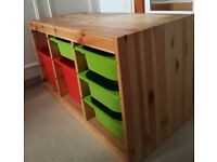 Wooden storage unit for children