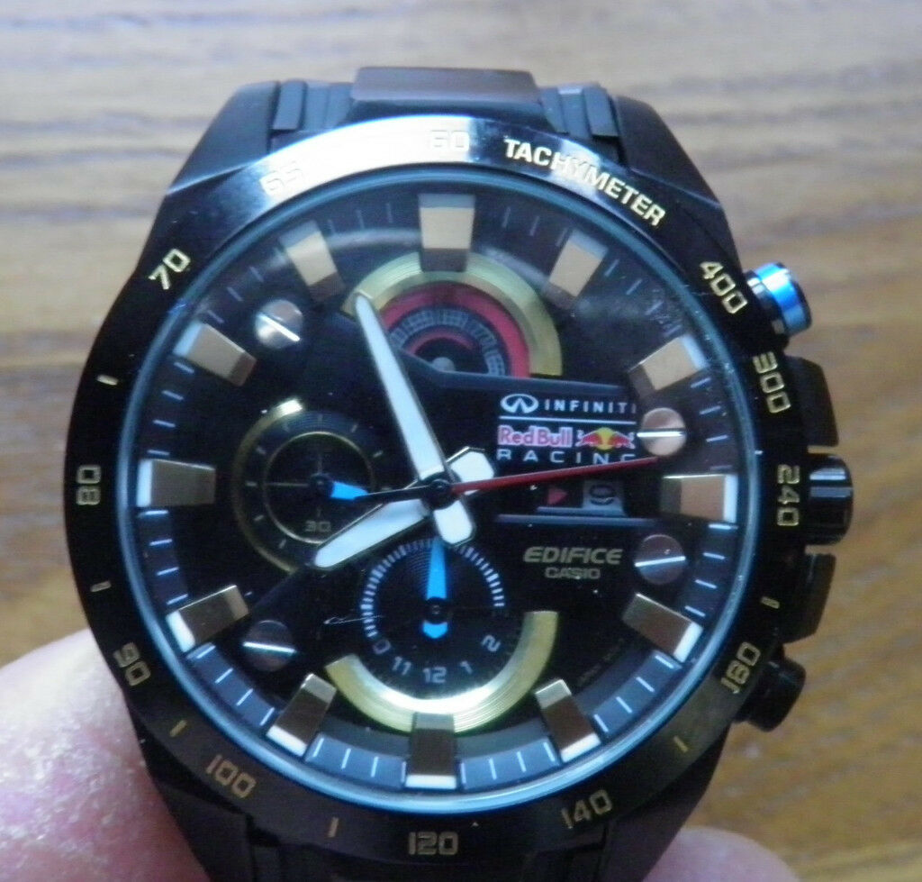 a015763fa0bd CASIO EDIFICE INFINITY RED BULL EFR-540RB-1AER MENS CHRONOGRAPH DIVERS WATCH