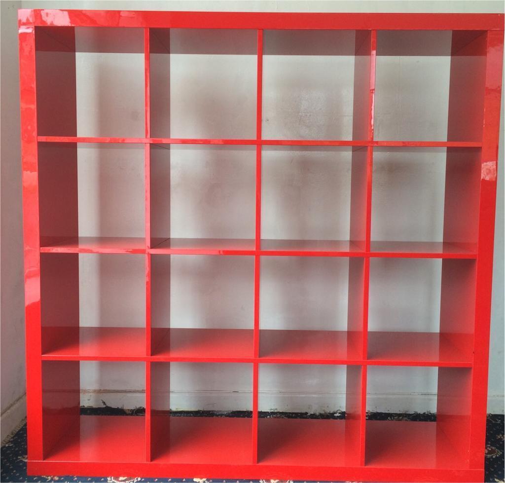 Ikea Kallax Red Cube Storage Units 150 X150cm In