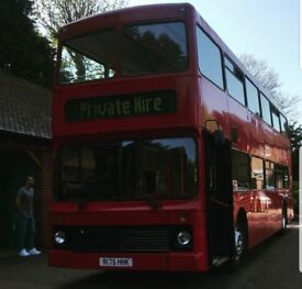 Red Double Decker Bus - Catering/Party Bus/Events/Bar/RV