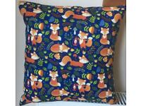 Mother's Day Gift Idea NEW Handmade Fox Cushion 40cm x 40cm - collect from Gosport